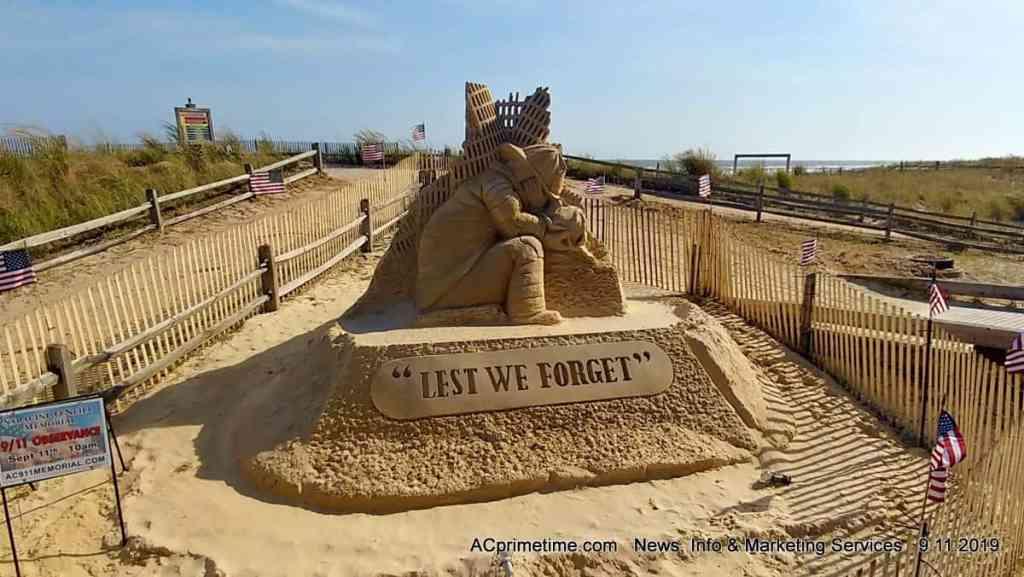 sand sculpture 9-11 memorial Atlantic City