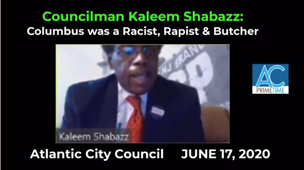 Councilman Shabazz Ignores Italian Community in Atlantic City, Removes Columbus Statue