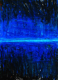 abstract night scene, abstract cityscape painting