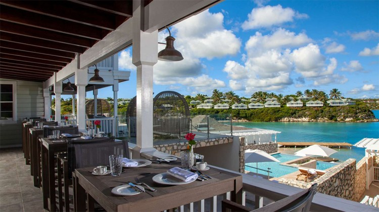 View from the Lighthouse Restaurant at  Hammock Cove, Antigua hotel