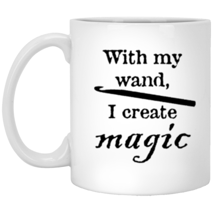 Crochet hook magic wand mug