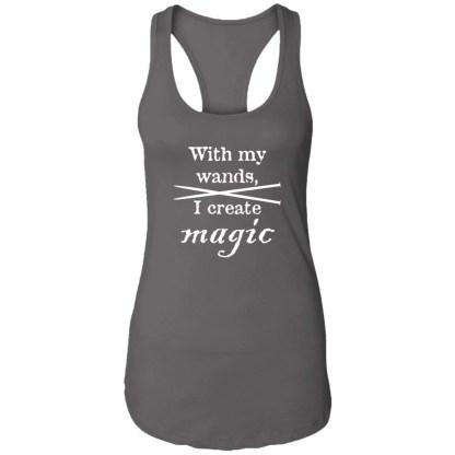 Knitting needles magic wands ideal racerback tank
