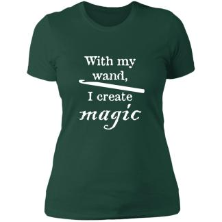 Crochet hook magic wand boyfriend t-shirt