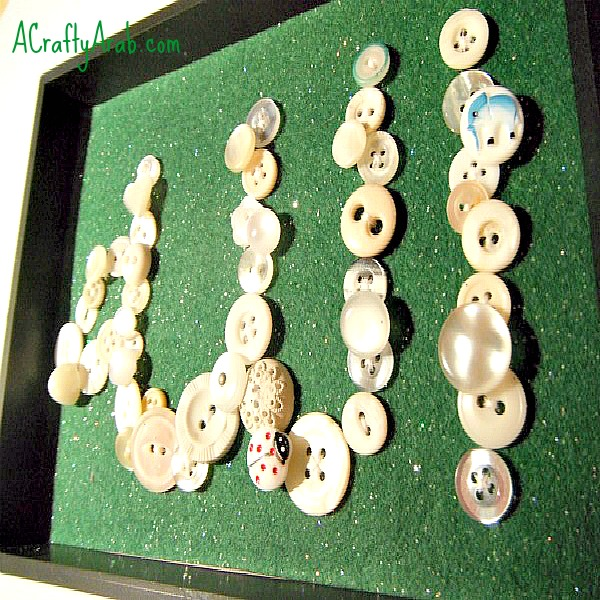 A Crafty Arab Allah Monogram Button Art Tutorial