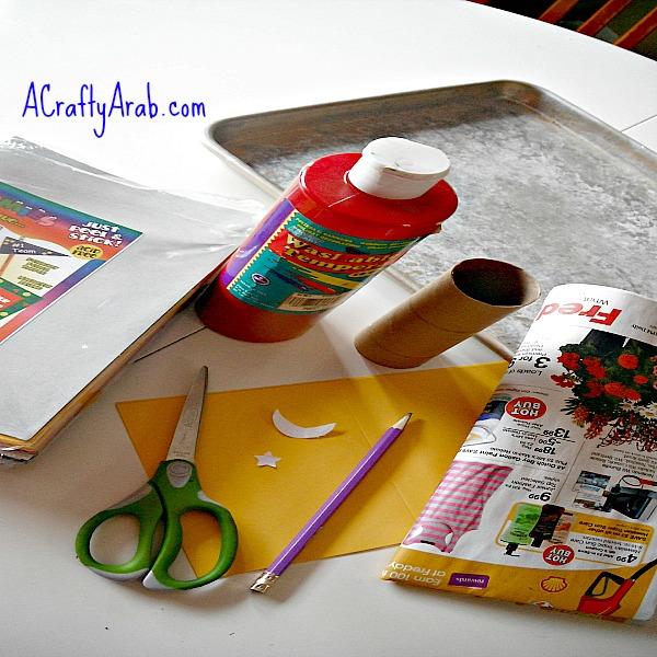 ACraftyArab Cardboard Tube Ramadan Card Tutorial