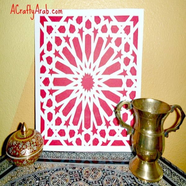 A Crafty Arab  Islamic Mosaic Paper Cut Tutorial