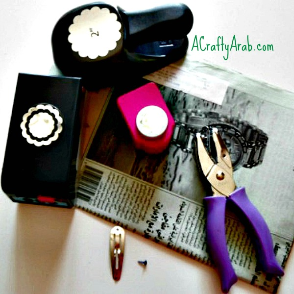 ACraftyArab Arabic Newspaper Hairclip Tutorial