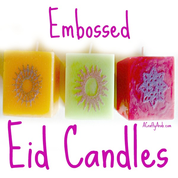 ACraftyArab Embossed Eid Candles