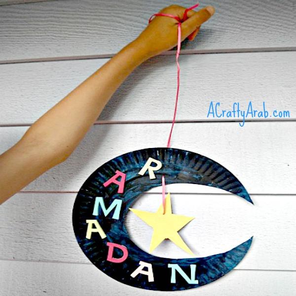 ramadan crafts, children, diy, muslim, islam, ramadan moon