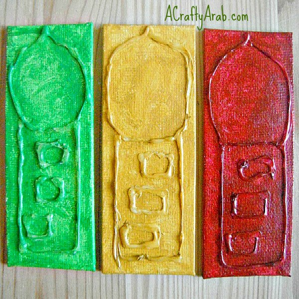 ACraftyArab.com Mini Canvas Minarets Tutorial