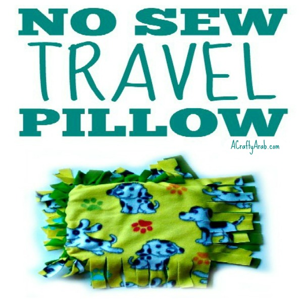 No Sew Travel Pillow Tutorial By A Crafty Arab