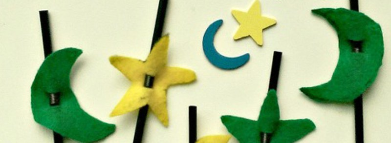 A Crafty Arab Crescent Moon and Star Straw ToppersWP