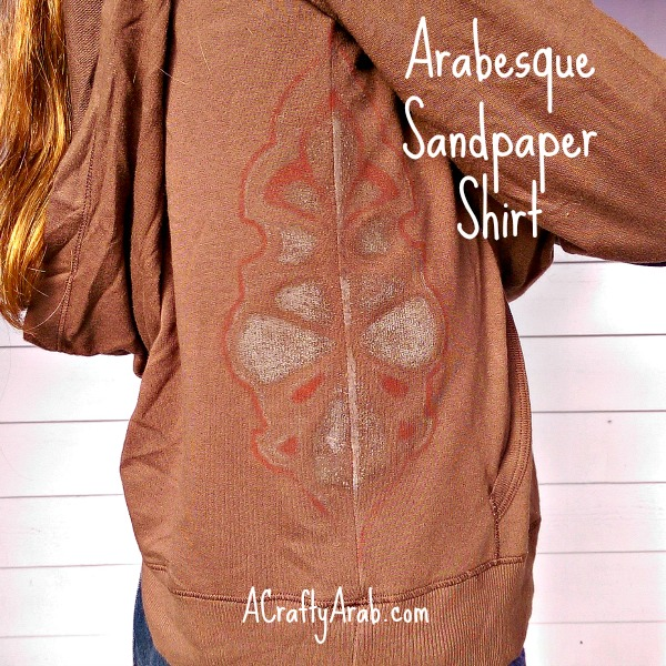 ACraftyArab Arabesque Sandpaper Shirt