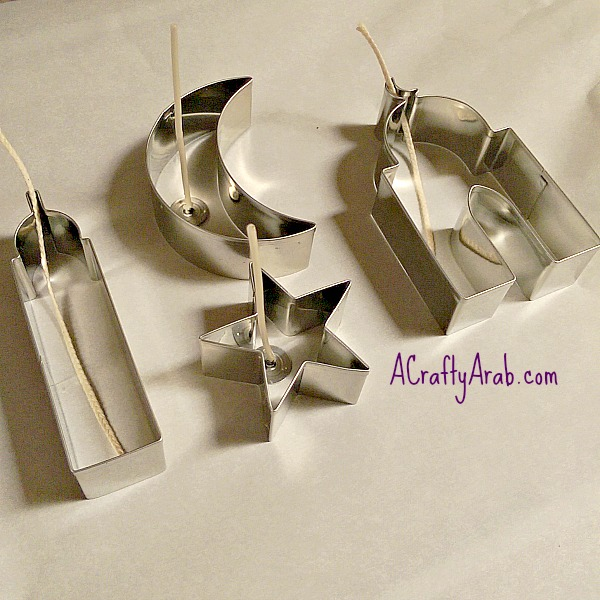 ACraftyArab Cookie Cutter Candles2