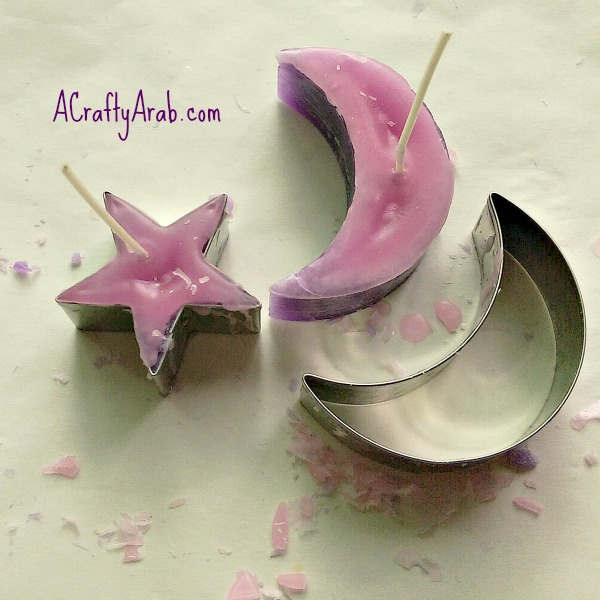 ACraftyArab Cookie Cutter Candles5