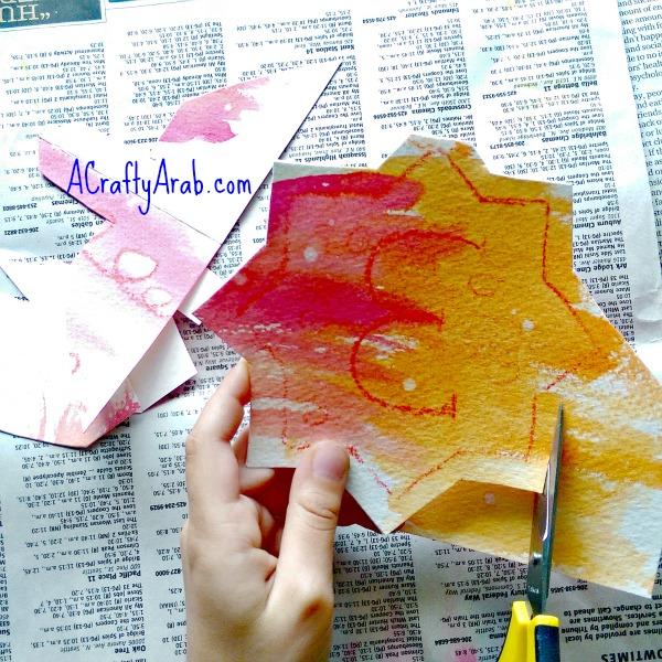 ACraftyArab Crayon Resist Eid Banner9