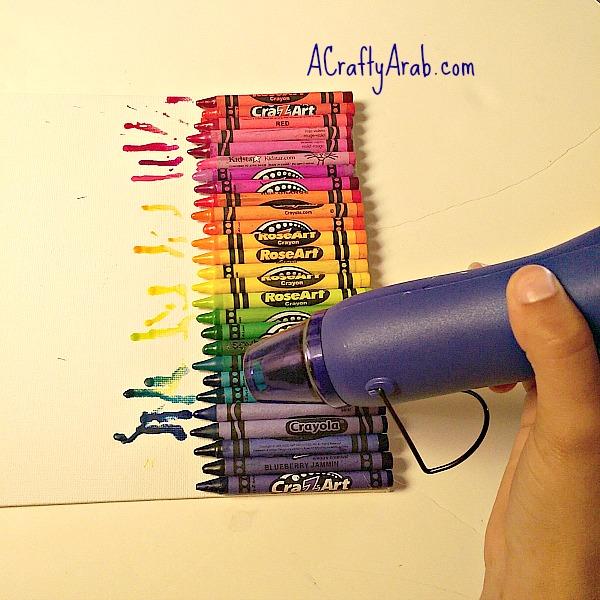 ACraftyArab Melted Crayon Allah Art4