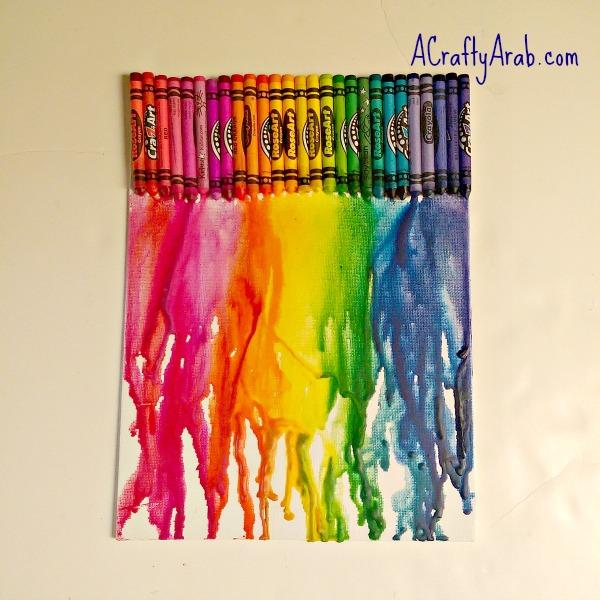 ACraftyArab Melted Crayon Allah Art5