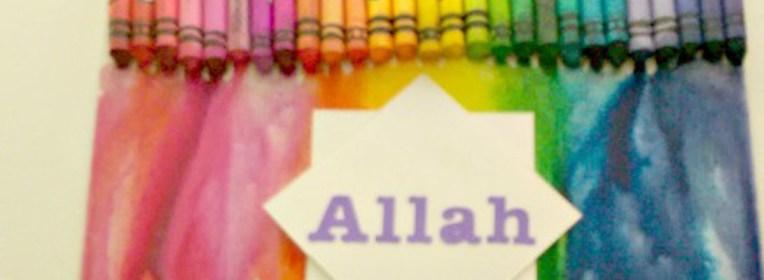 ACraftyArab Melted Crayon Allah ArtWP