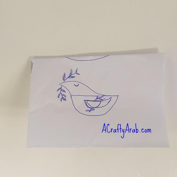 ACraftyArab Salam Dove Hair Clip2