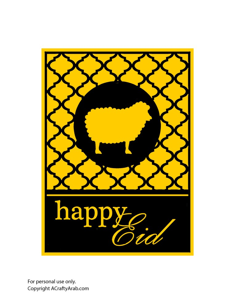 Happy Eid Welcome sign - gold black copy