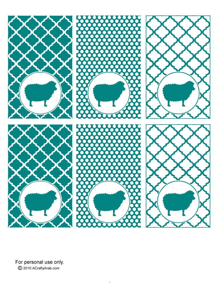Teal - blank labels