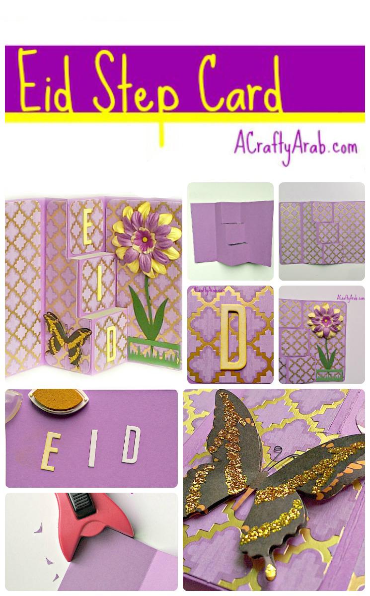 ACraftyArab Eid Step CardPin