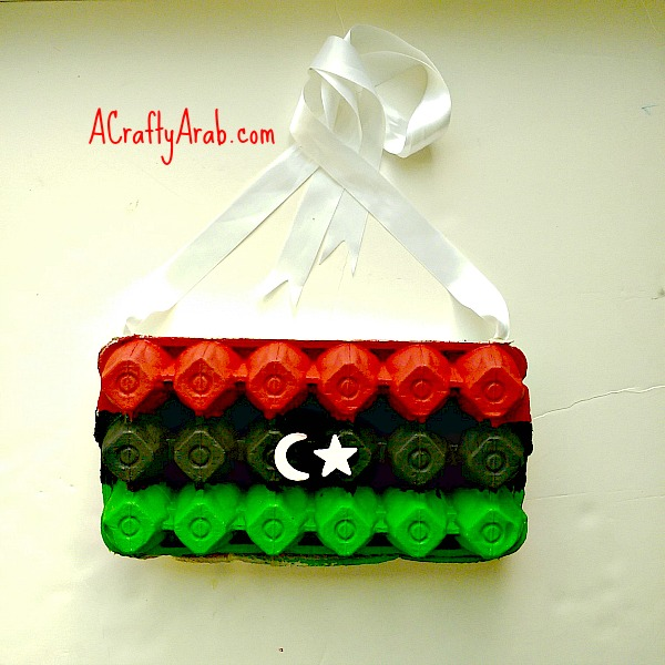 ACraftyArab Libyan Flag Egg Carton4