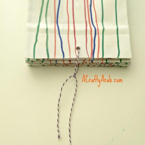ACraftyArab Hanging Paper Bag Khatam4