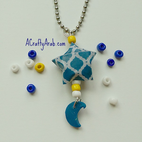 ACraftyArab Origami Star Eid Necklace3