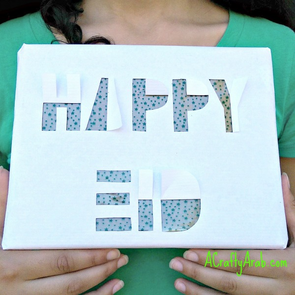 ACraftyArab Happy Eid Cut Out Wrapping Paper8