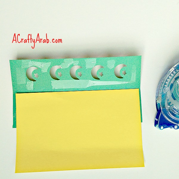 ACraftyArab Moon and Star Punch Art Bookmark Tutorial