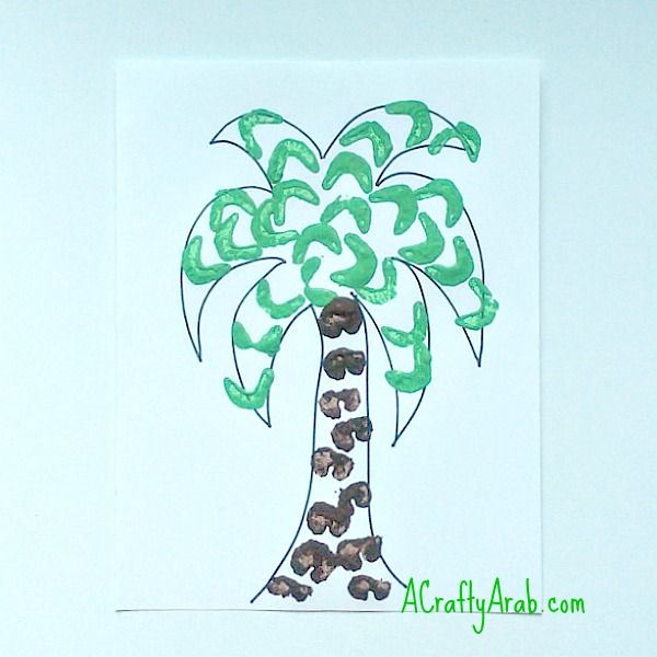 A Crafty Arab Palm Tree Celery Art Tutorial