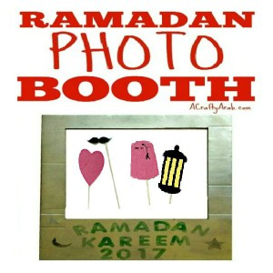 ramadan crafts, photo booth, islam, chilldren, muslim diy, tutorial