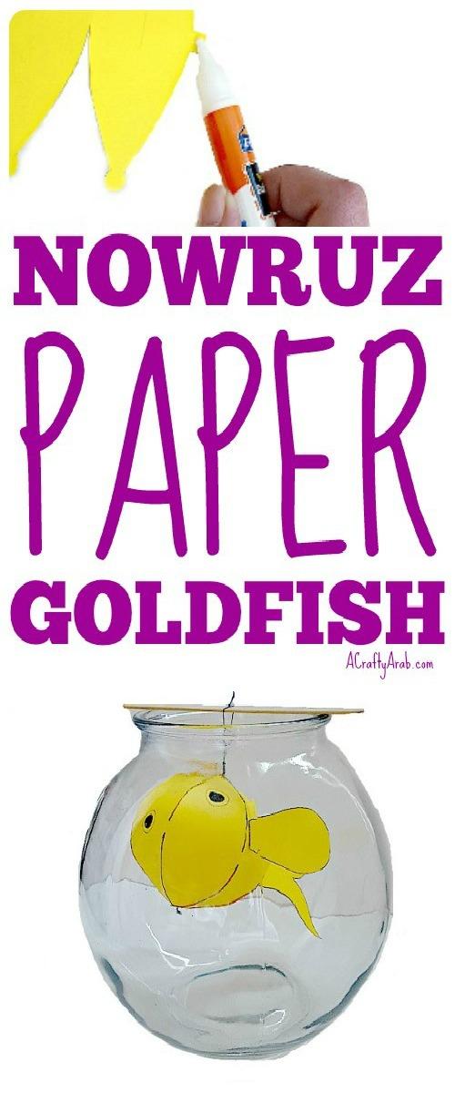 ACraftyArab Nowruz Paper Goldfish Pin