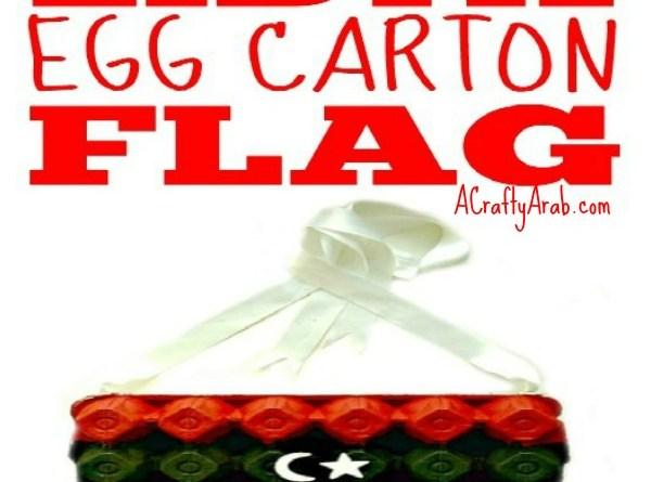 Egg Carton Libya Flag Children DIY Craft