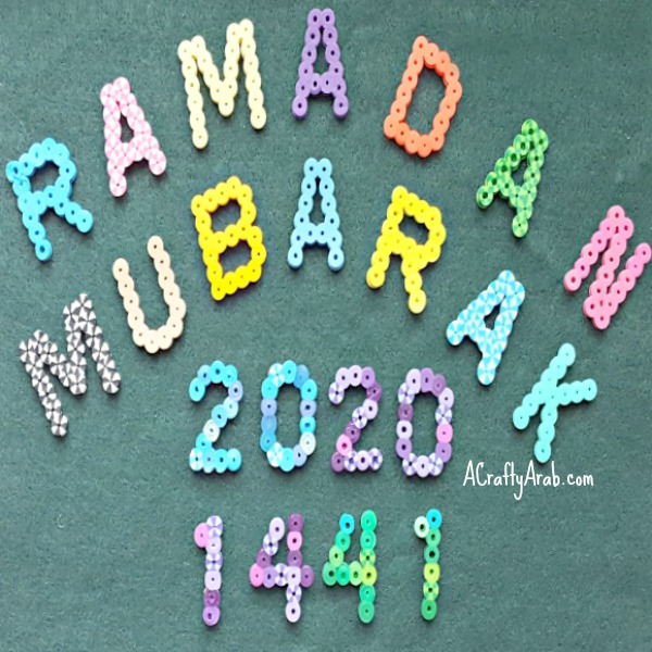 ramadan crafts, greeting, beads