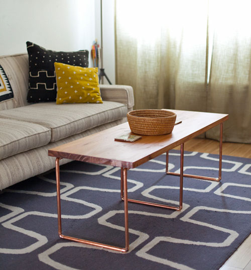 make a diy industrial coffee table