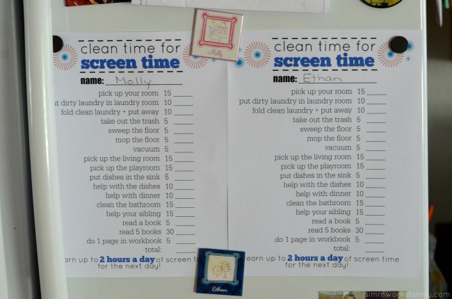 Free Chore Chart Printable A Crafty Spoonful Download