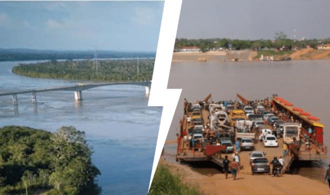 Balsa sobre o Rio Madeira acabou? Bolsonaro inaugura ponte em setembro - Acre Agora - acreagora.com