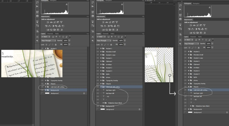 using layers and groups in photoshop