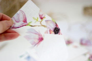 WATERCOLOR MAGNOLIA BUNTING SET TWO + HOW TO PRINT