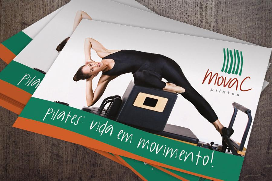 MovaC Pilates - Nova Marca - Folheto de lançamento