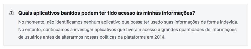 aplicativos banidos do facebook - AcrediteCo