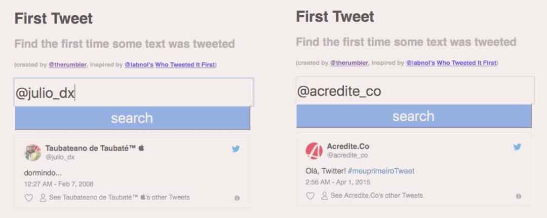Como descobrir seu primeiro tweet 2 - Acredite.Co