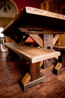 Reclaimed Wood Trestle Base Table