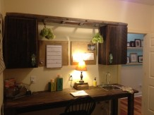 Mudroom Reclaimed Wood Cabinets w/ Farm House Style Counter