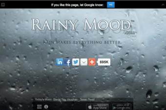 rainy mood website