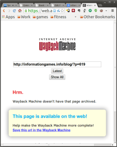 screengrab of wayback machine