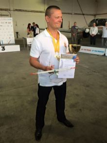 Siegerehrung, der Weltmeister Ference Toth - Copyright: Ruda Jung